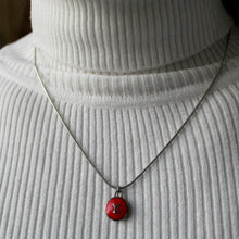 Load image into Gallery viewer, Reworked Logo Red Necklace