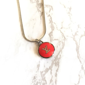 Reworked Logo Red Necklace