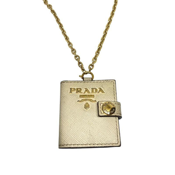 Authentic Prada Charm Mini notepad-Reworked Necklace