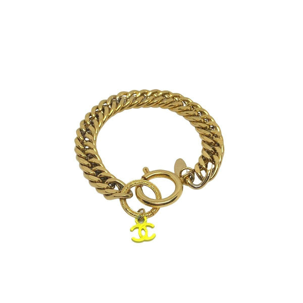 Authentic Chanel CC pendant Re-purposed Bracelet
