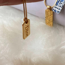 Load image into Gallery viewer, Tag Dior Necklace - Repurposed