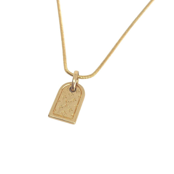 Authentic Louis Vuitton Mini Tag - Upcycled Necklace