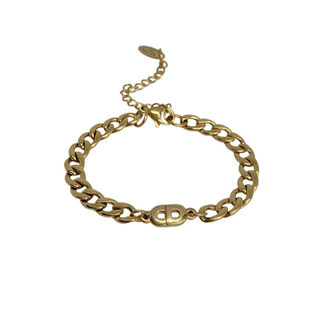 Authentic Mini Dior pendant -Repurposed Bracelet