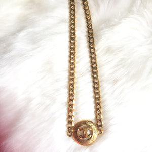 Necklace with Authentic Pendant from CC logos Medallion