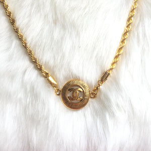 Necklace Reworked Authentic Pendant from CC logos Medallion