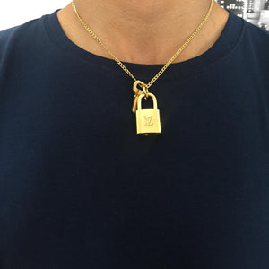 Louis Vuitton Necklace Padlock with single chain For Him