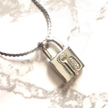 Load image into Gallery viewer, Necklace with Pendant Lock from Authentic Vintage Earrings
