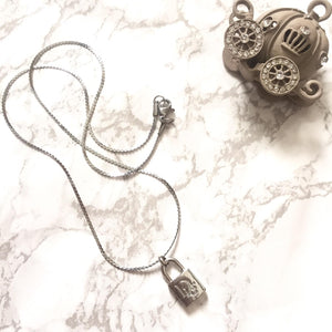 Necklace with Pendant Lock from Authentic Vintage Earrings