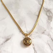 Load image into Gallery viewer, Authentic Louis Vuitton Logo Sienna Pendant Necklace