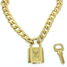 Load image into Gallery viewer, Louis Vuitton Padlock with 'Hip Hop' Necklace