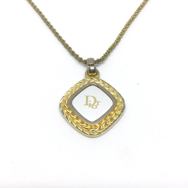 Authentic Necklace Vintage Dior White