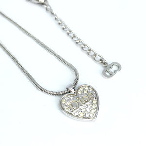 Authentic Dior Necklace Heart