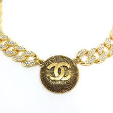 Load image into Gallery viewer, Large CC Repurposed Necklace Iced out
