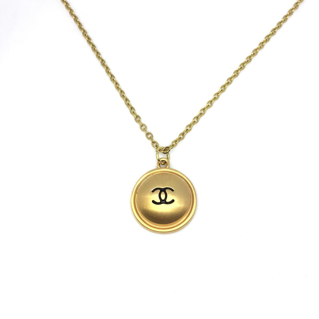 CC Round Pendant Necklace Reworked