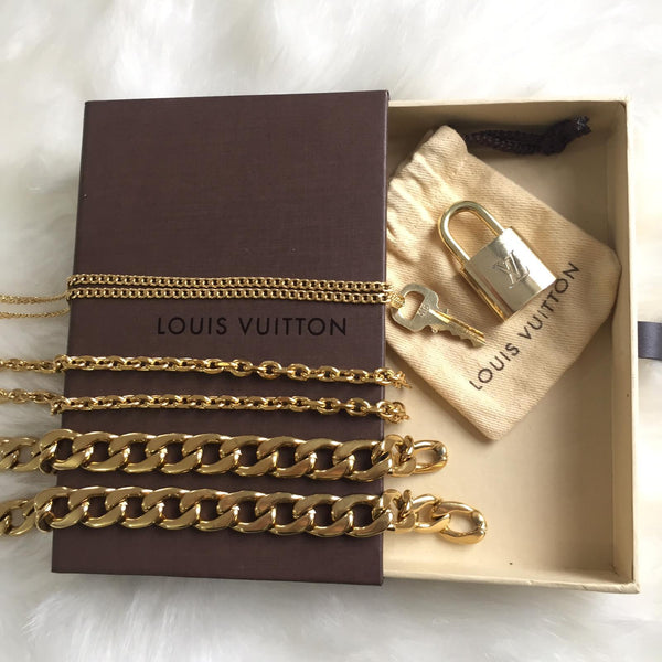 Gift Collection: Louis Vuitton Necklace Padlock Set