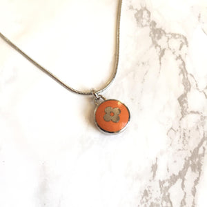 Reworked Clover Orange Pendant
