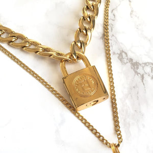 Fendi Padlock Necklace