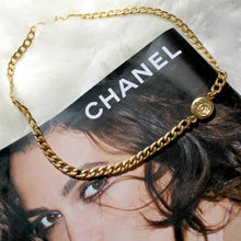 Load image into Gallery viewer, Authentic Chanel Pendant- Repurposed Asymmetric Necklace