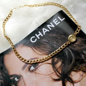 Authentic Chanel Pendant- Repurposed Asymmetric Necklace