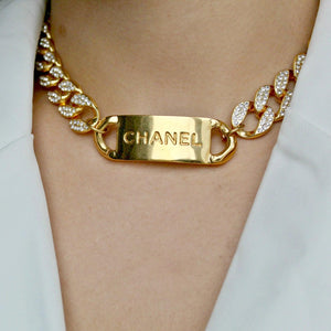 CC logo choker Iced out