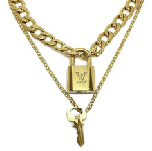 Load image into Gallery viewer, Louis Vuitton Padlock Necklace with Double Chain - Boutique SecondLife