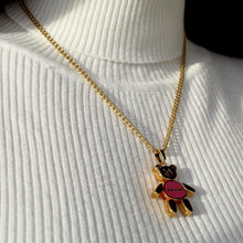 Load image into Gallery viewer, Holiday Collection: Pink Bear Reworked Necklace
