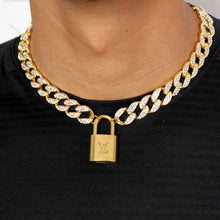 Load image into Gallery viewer, Louis Vuitton Padlock with Rhinestone 'Hip Hop' Necklace For Him