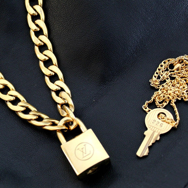 Padlock Necklace Double Chain for Him