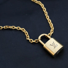 Load image into Gallery viewer, Louis Vuitton Padlock Necklace Bracelet Key Set for Him