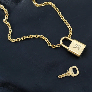 Louis Vuitton Padlock with Rolo Chain Necklace For him