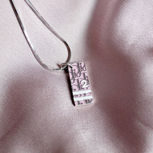 Authentic Dior Pink Pendant Necklace - Boutique SecondLife