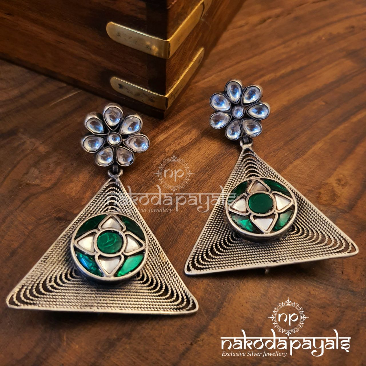 Triangular Kundan Hanging