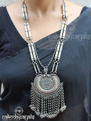 Select Chain Charms Oxidised Necklace