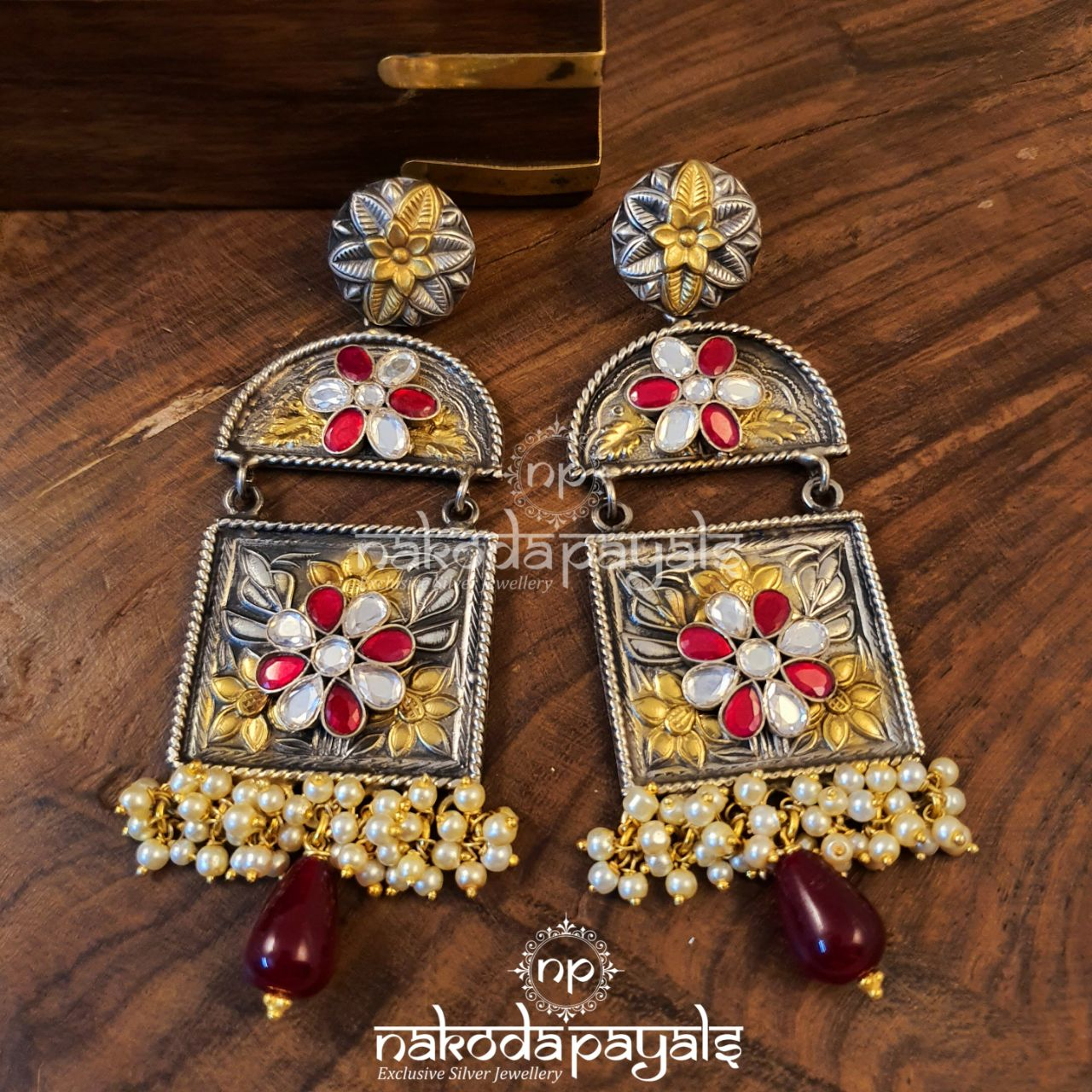 Cherubic Long Kundan Earrings