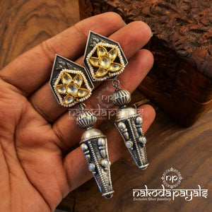 Differently Shared Kundan Earrings