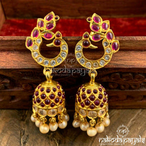 Gratified Peacock Jhumka
