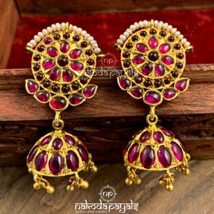 Gladsome Red Jhumka