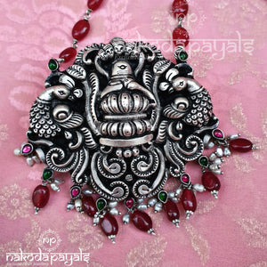 Nakshi Shivalinga Ruby Chain Necklace