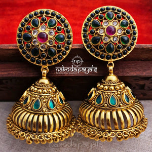 Grandiose Green Jhumka