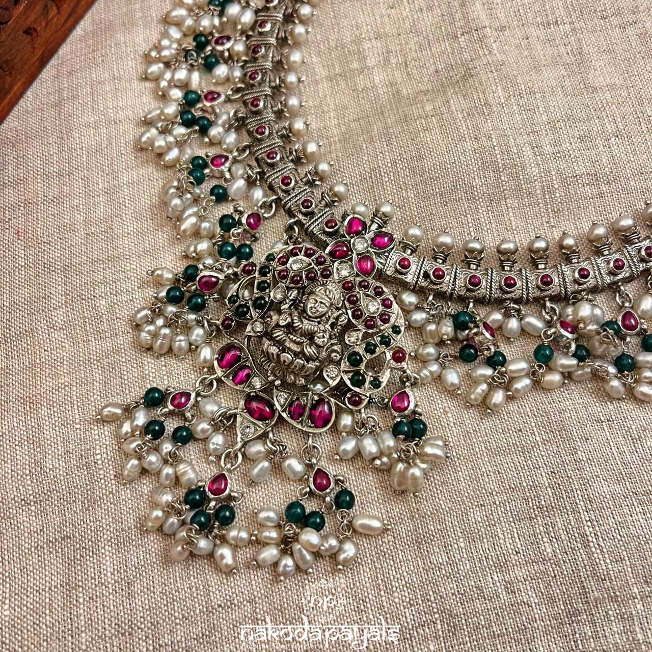 Lakshmi Guttapusalu With Green Beads