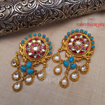 Ravishing Kundan Turquoise Earrings