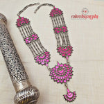 Tremendous Pink Glass Necklace