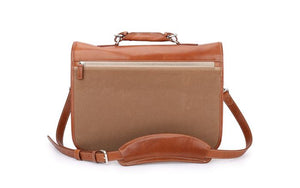 Burke & Wills Laptop Bag-Waxed Canvas-In-Stock