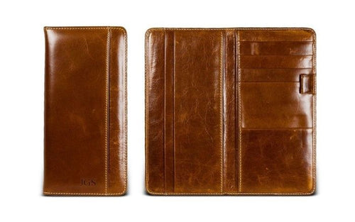 Travel Organizer/Passport Holder-Florentine Leather