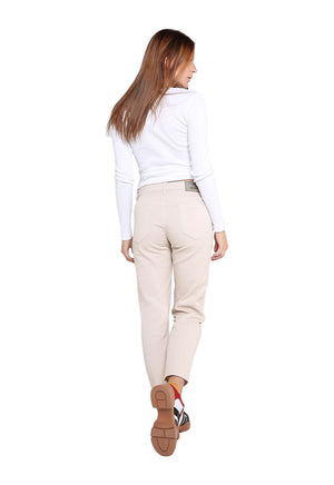 Calça Feminina Mom - Off White
