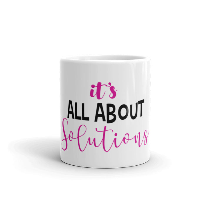 White Glossy Solutions Coffee Mug