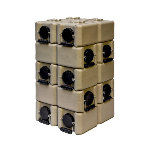 Standard WaterBrick 3.5 Gallon - Tan 10 Pack