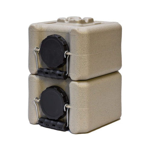 Half WaterBrick 1.6 Gallon - Tan 2 pack