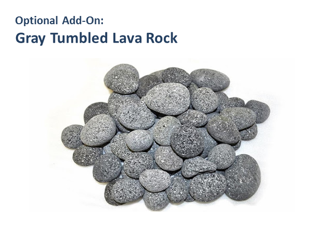 Prism Hardscapes Gray Tumbled Lava Rock - The Fire Pit Collection