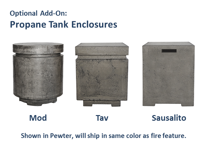 Prism Hardscapes Sausalito Propane Tank Enclosure - The Fire Pit Collection